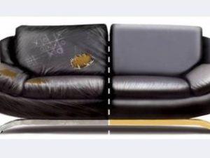 Перетяжка кожаного дивана в Твери