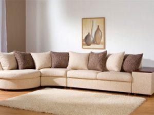 Перетяжка углового дивана на дому в Твери
